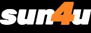 sun4u מערכת סולארית - לוגו לבן קצר